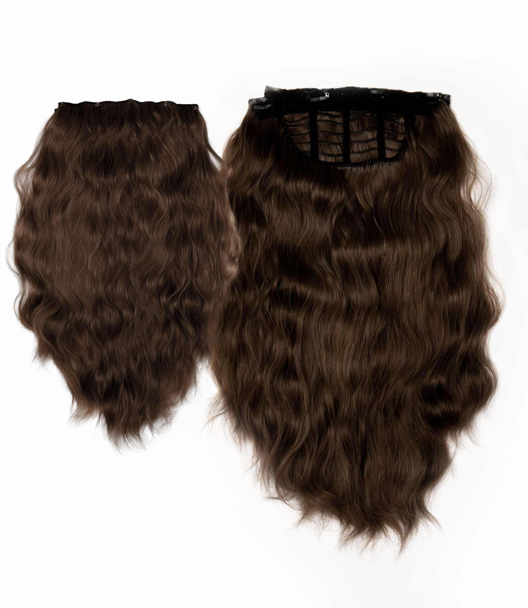 "Charlotte's Miracle Makeover HD Fibre Hair Extensions - 14"" / 22"" - Medium Brown (PRE ORDER) (1319143768144)"