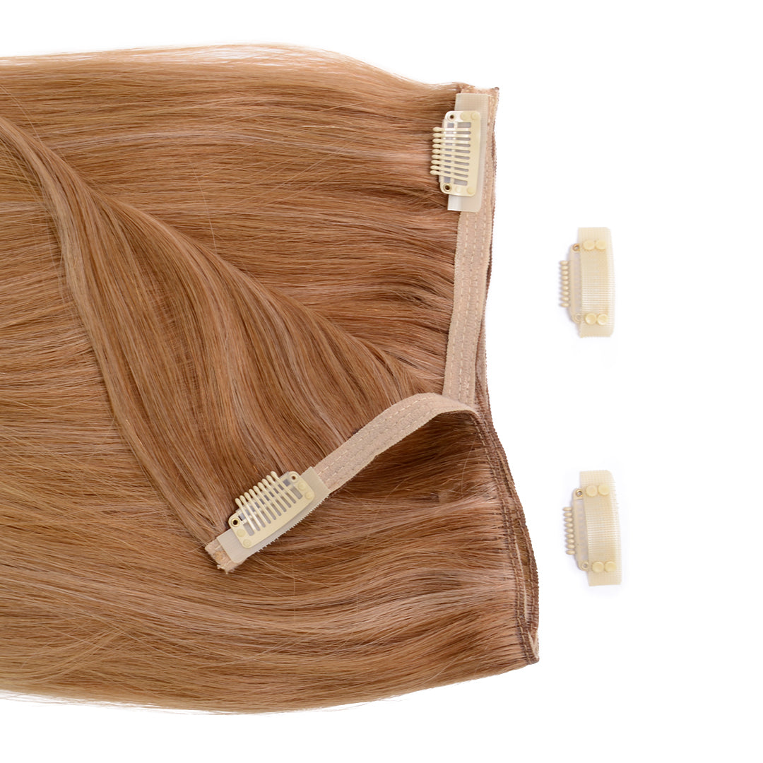 "Clip In 20"" Weft Human Hair Extensions - Sandy Blonde (3693737050192)"