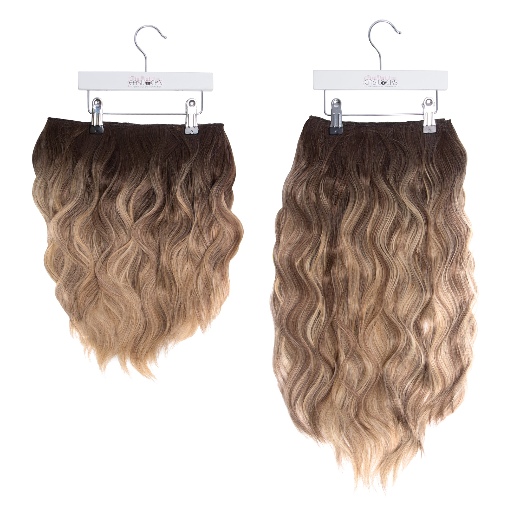 "Miracle Makeover HD Fibre Clip In Hair Extensions - 14"" & 22"" - Biscuit Balayage (3664508682320)"
