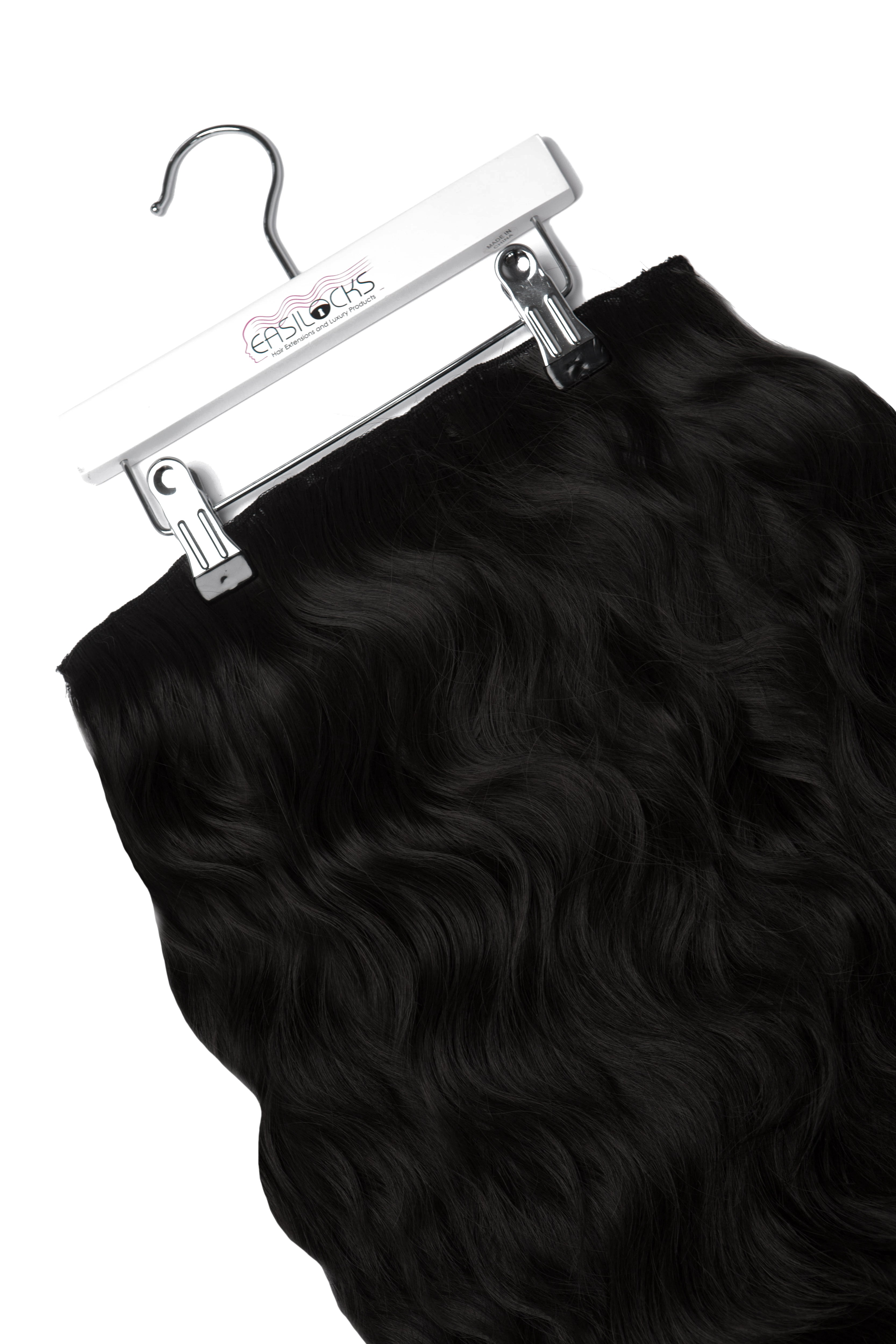 "Miracle Makeover HD Fibre Clip In Hair Extensions - 14"" & 22"" - Ebony/Black (1319142096976)"
