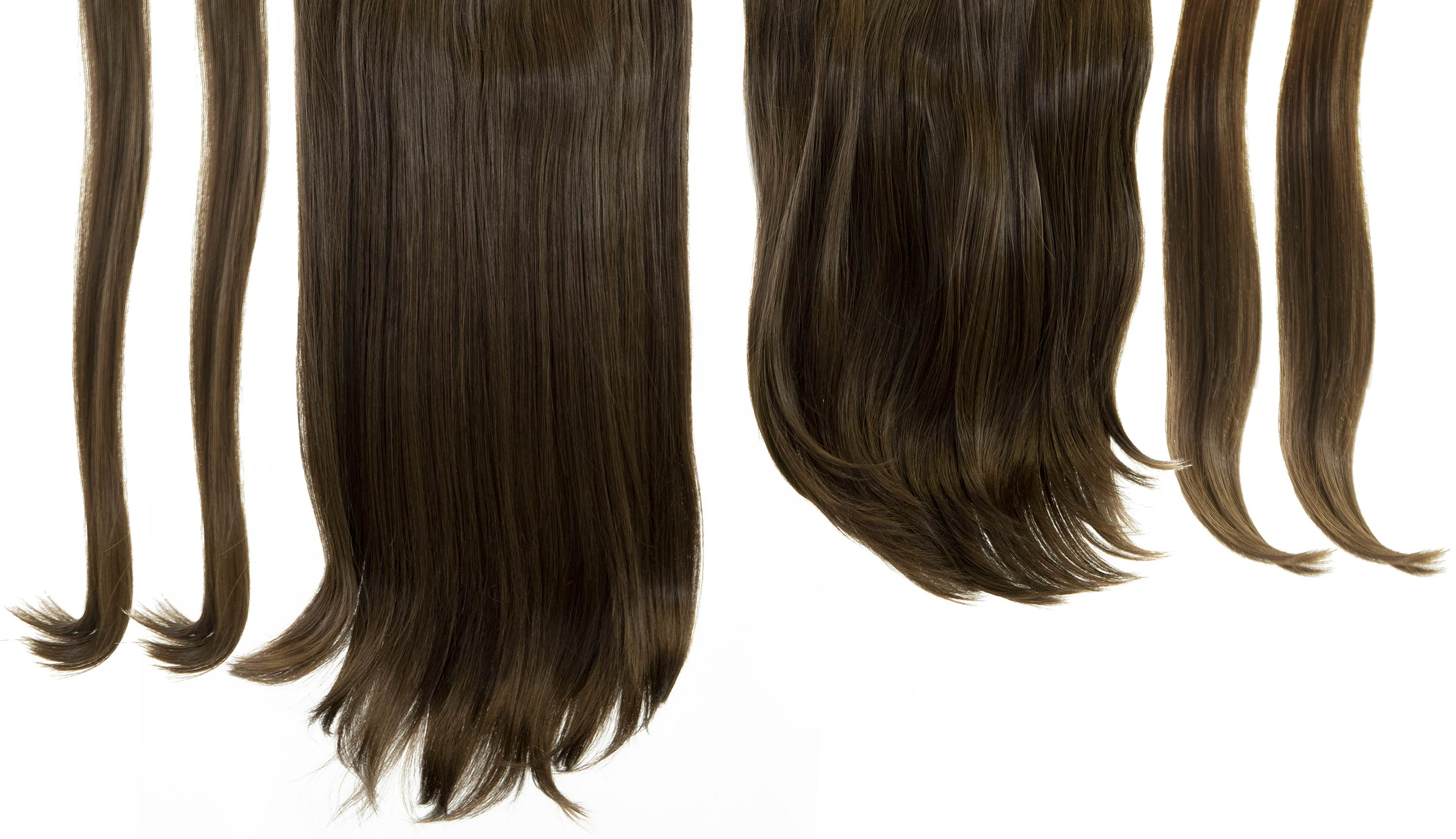 6 in 1 Clip In Hair Extensions - Brown Cocoa