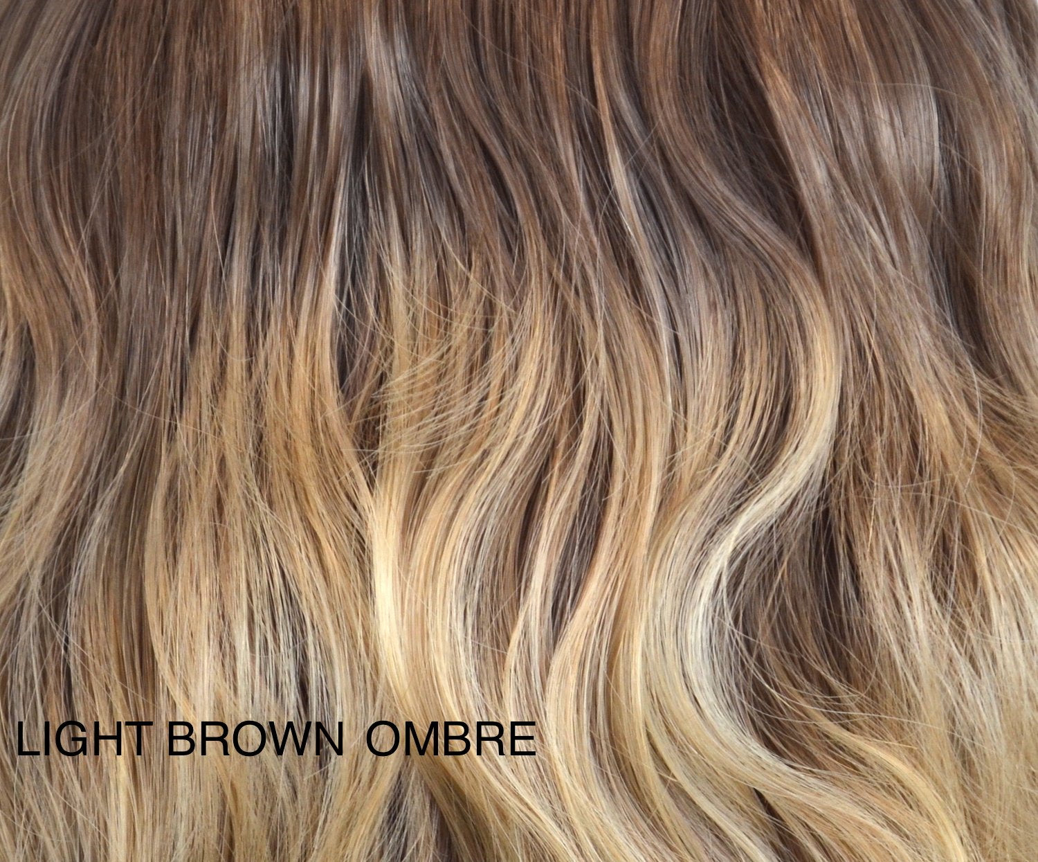 "Charlotte's Miracle Makeover HD Fibre Hair Extensions - 14"" / 22"" - Lightest Brown Ombre (1319144095824)"