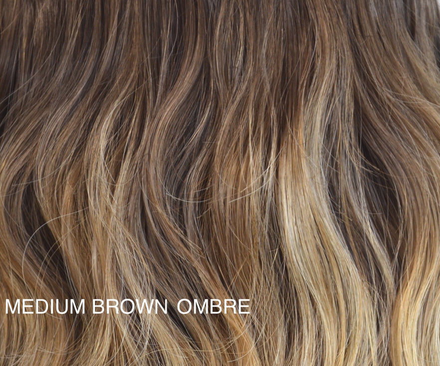 "Charlotte's Miracle Makeover HD Fibre Hair Extensions - 14"" / 22"" - Medium Brown Ombre (PRE ORDER) (1319143931984)"