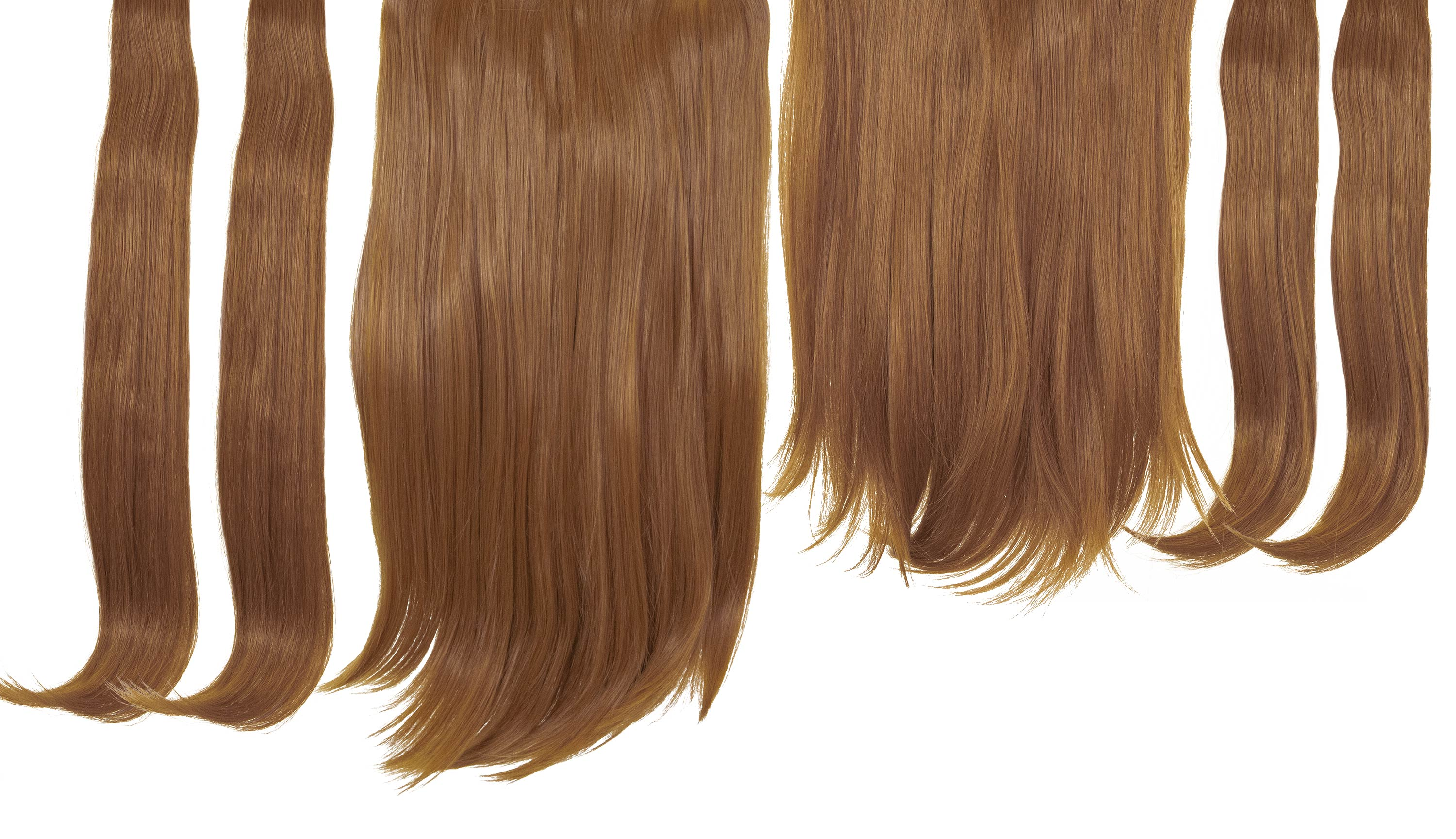 6 in 1 Clip In Hair Extensions - Copper