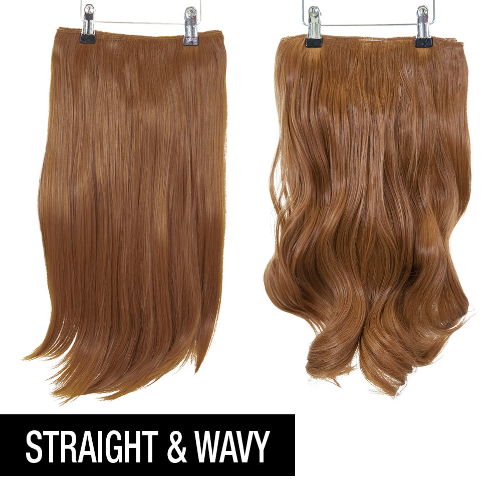 "12 Piece Clip In HD Fibre Hair Extensions - 16"" / 22"" - Copper (1572147298384)"