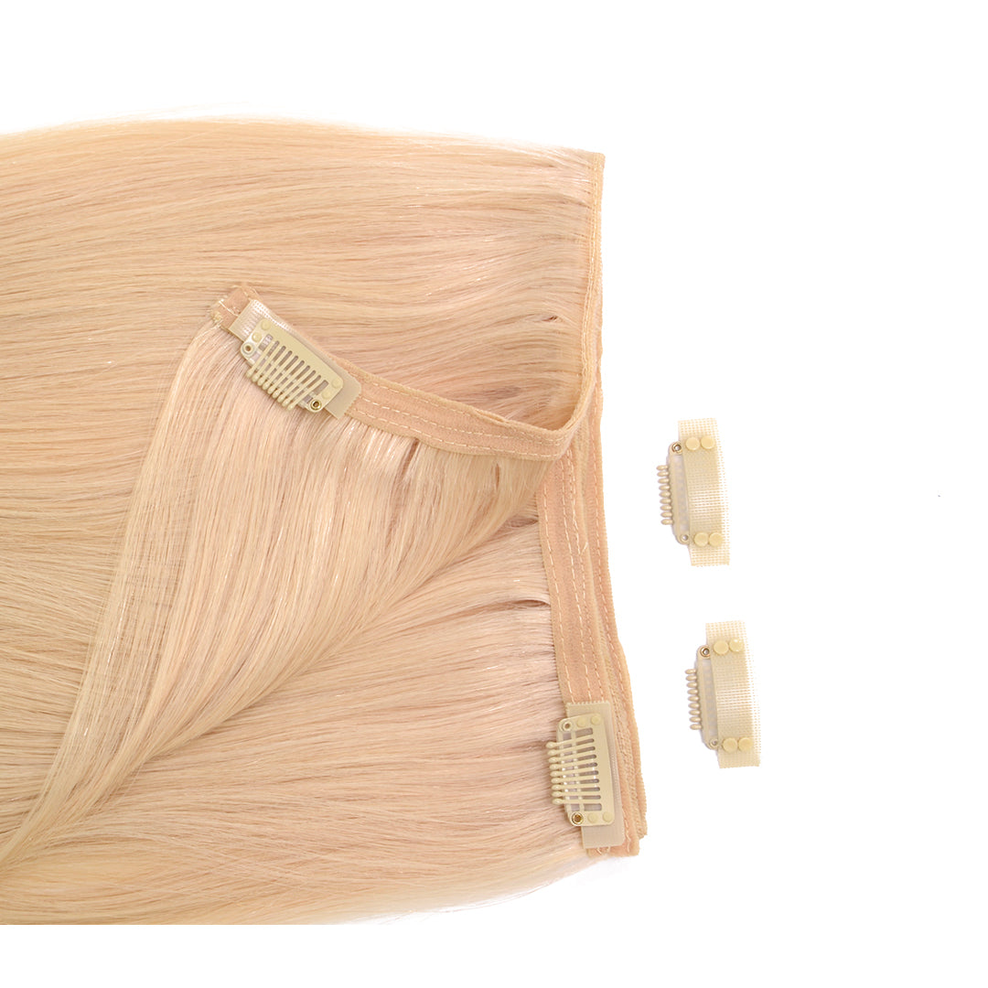 "Clip In 20"" Weft Human Hair Extensions - Cream (112319692809)"
