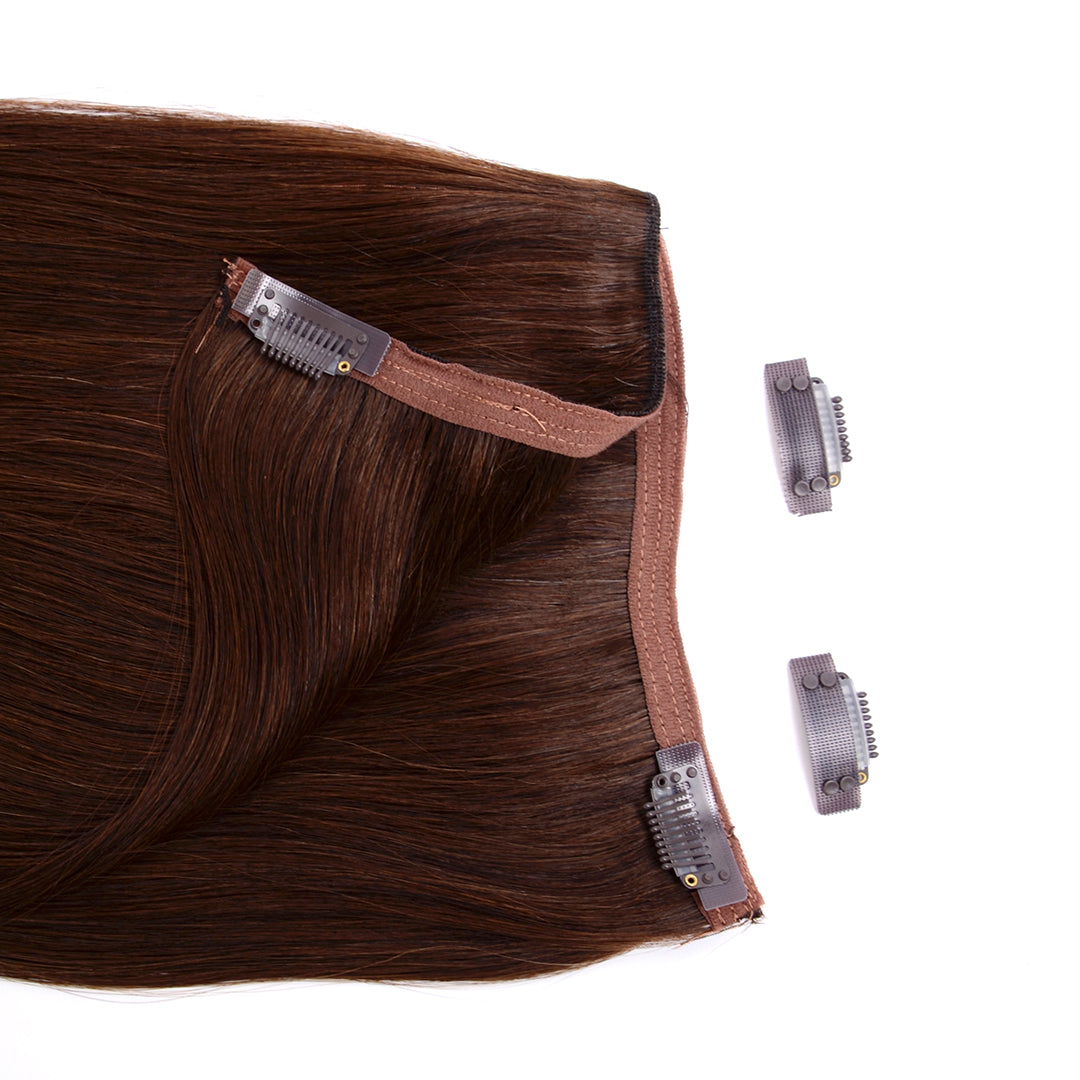"Clip In 20"" Weft Human Hair Extensions - Dark Brown (448283828)"
