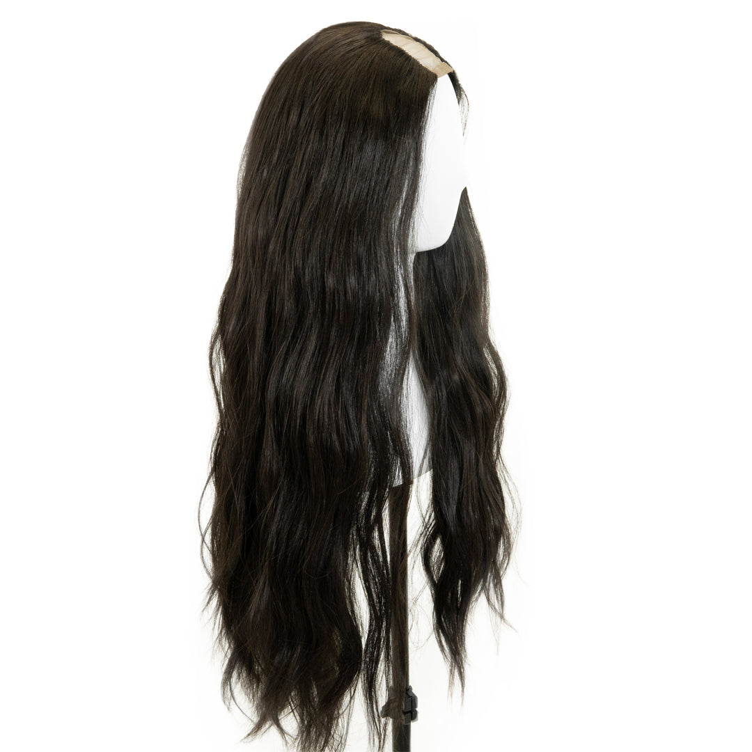 "Jordyn X Easilocks HD Fibre 24"" Lace U Part - Dark Chocolate (4118743875664)"