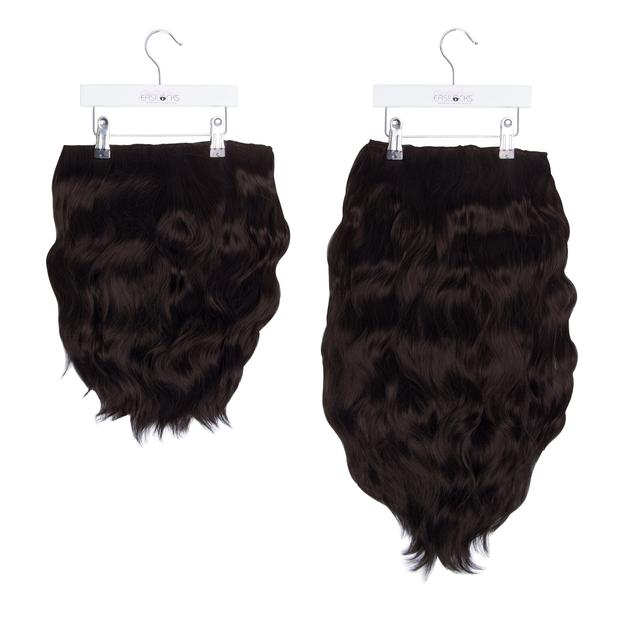 "Miracle Makeover HD Fibre Clip In Hair Extensions - 14"" & 22"" - Dark Chocolate/Darkest Brown (1319143276624)"
