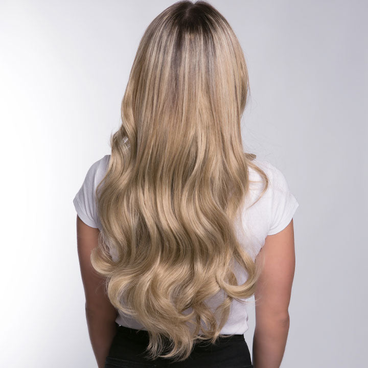 "12 Piece Clip In HD Fibre Hair Extensions - 16"" / 22"" - Pearl & Oak (1572140908624)"