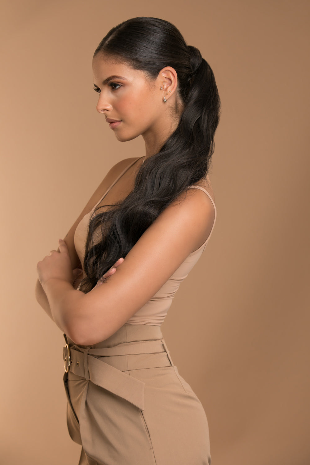 "Jordyn X Easilocks 22"" Clip-In Ponytail - Dark Chocolate (4168044281936)"
