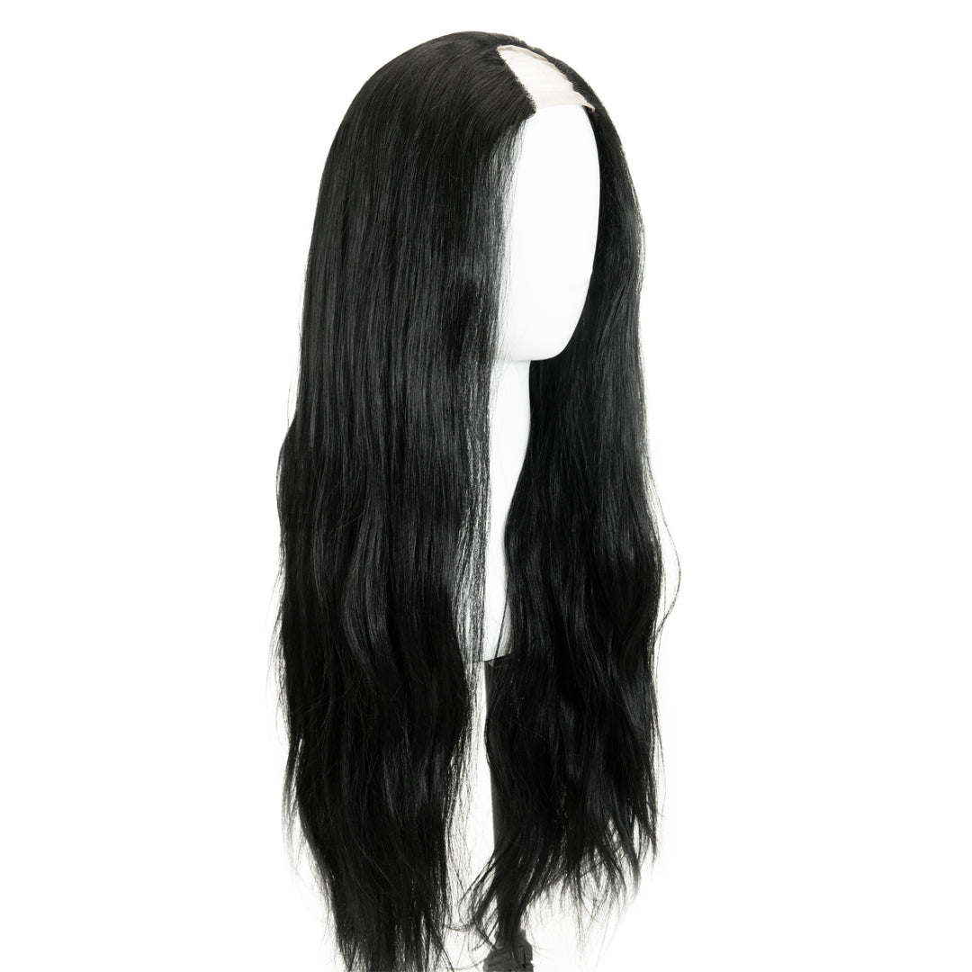 "Jordyn X Easilocks HD Fibre 24"" Lace U Part - Ebony (4118724739152)"