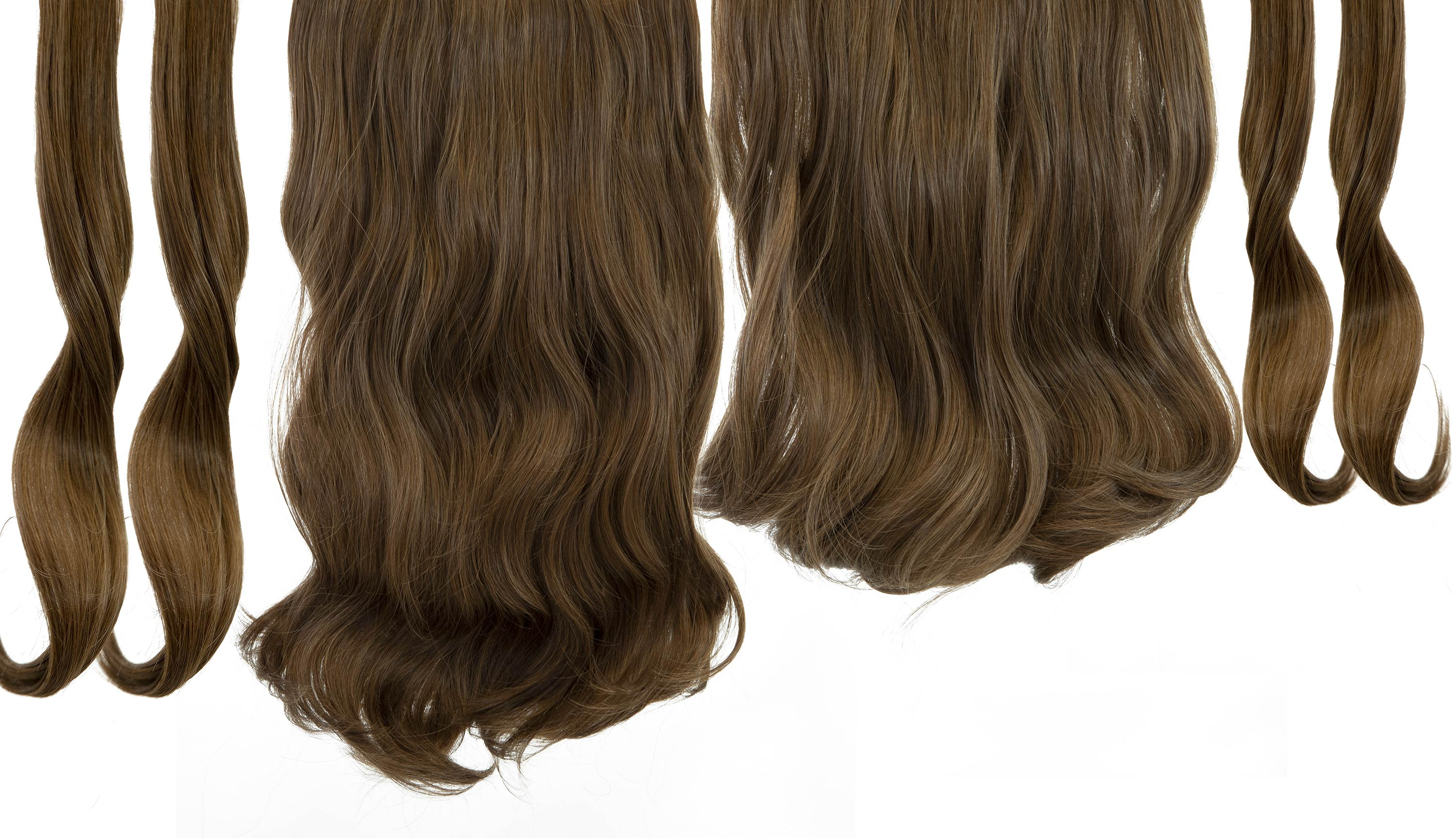 "12 Piece Clip In HD Fibre Hair Extensions - 16"" / 22"" - Fudge Brownie (1572138680400)"