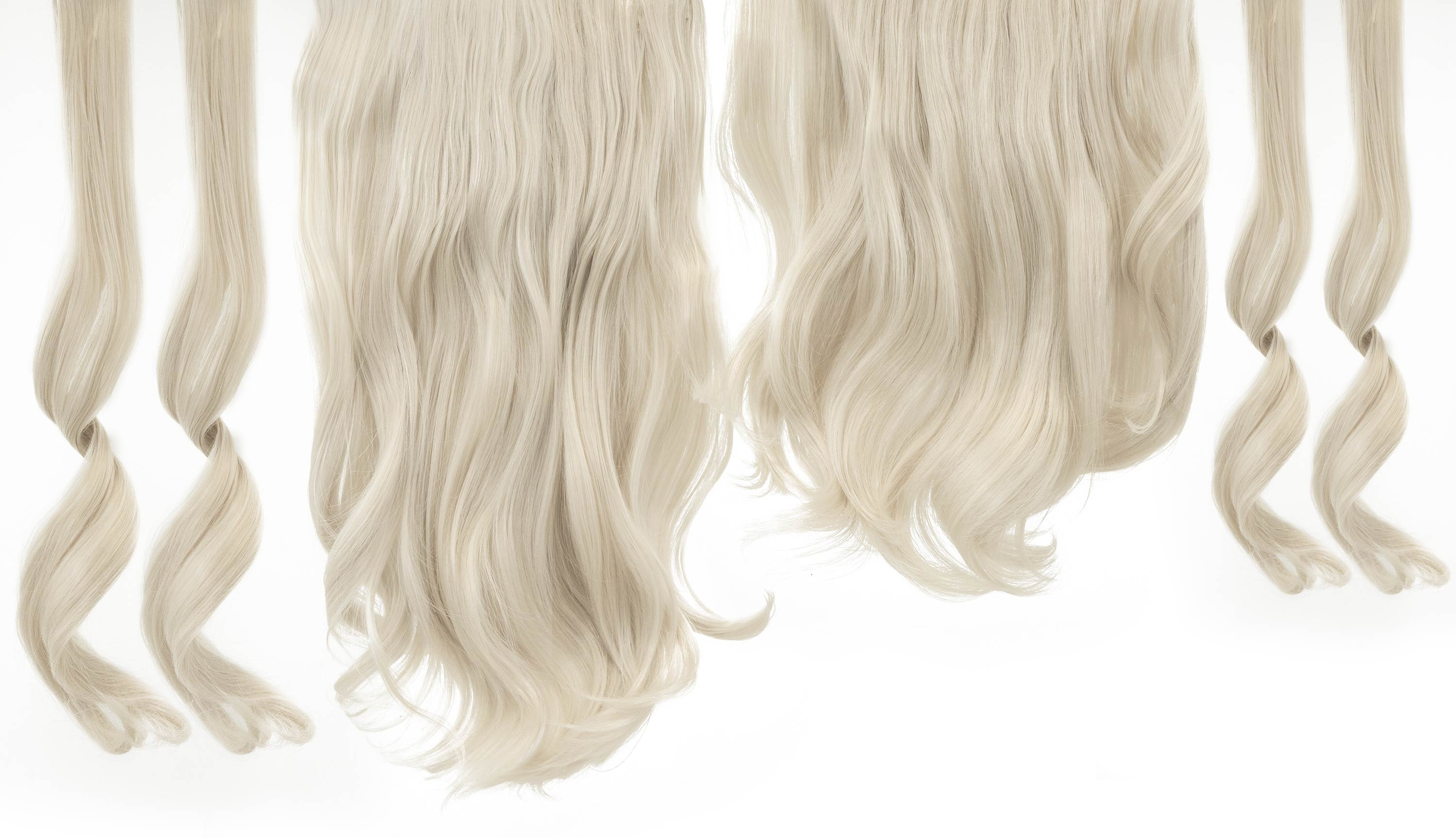 "12 Piece Clip In HD Fibre Hair Extensions - 16"" / 22"" - Ice Blonde (1572145430608)"