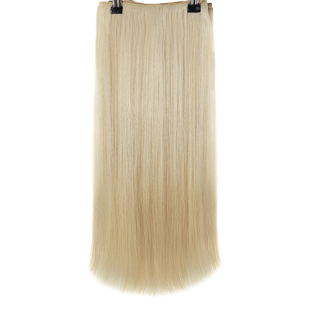 Multi Weft Clip In Human Hair Extensions - Ice Blonde (448284352)