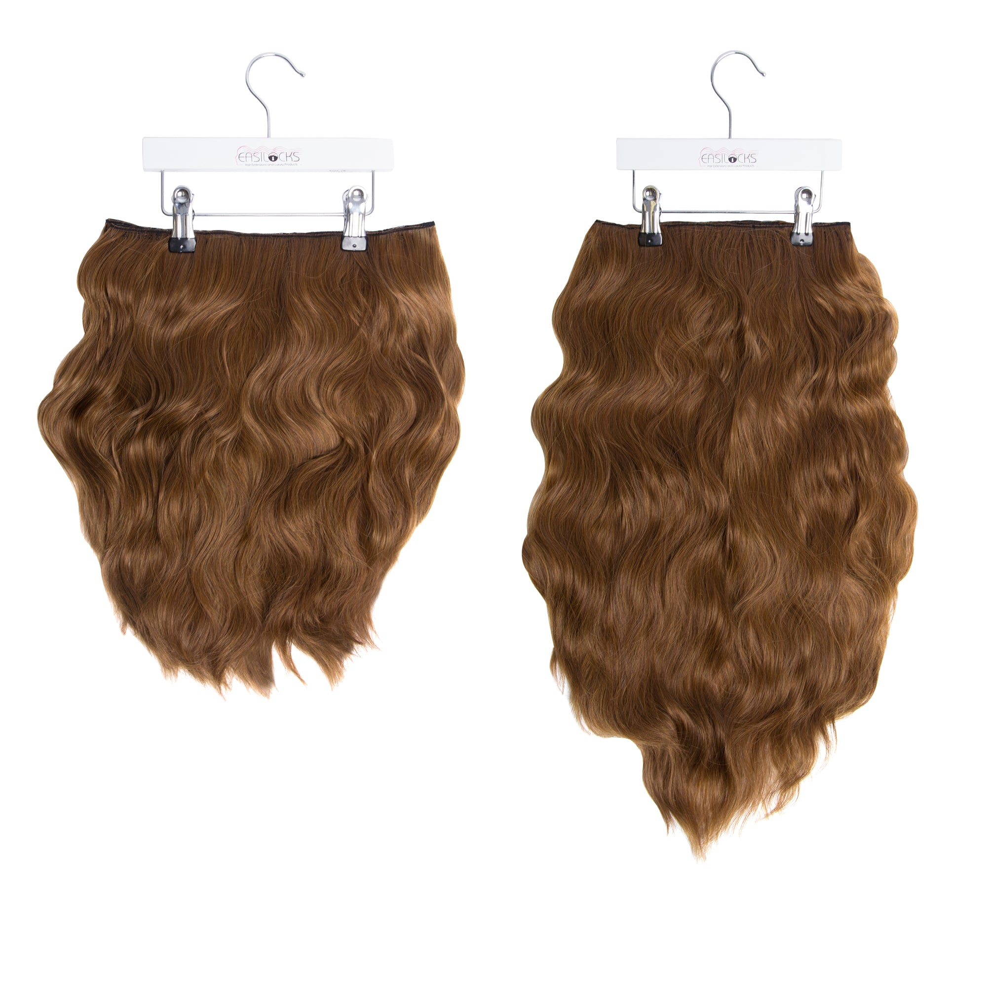 "Miracle Makeover HD Fibre Clip In Hair Extensions - 14"" & 22"" - Lightest Brown (1319143538768)"