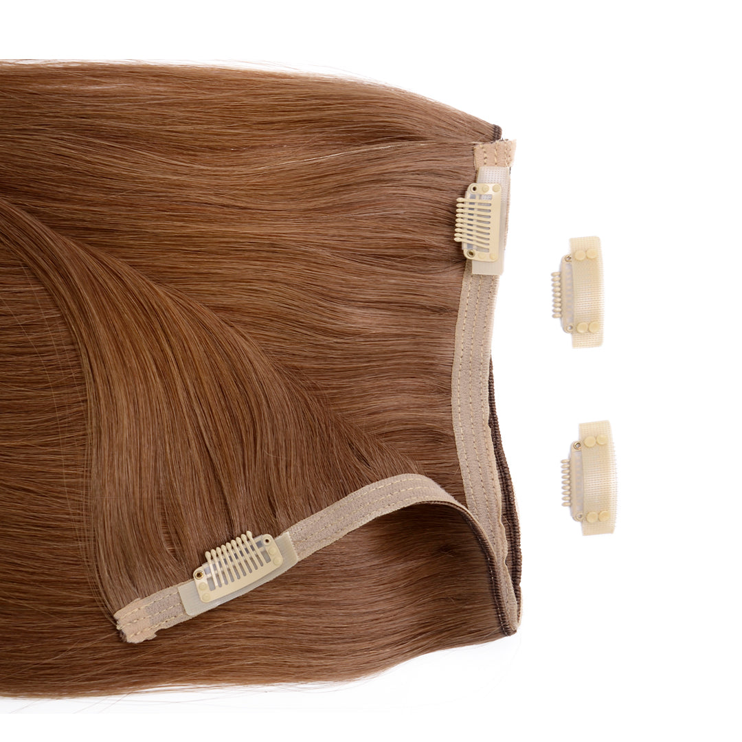 Multi Weft Clip In Human Hair Extensions - Sandy Brown (3693742686288)