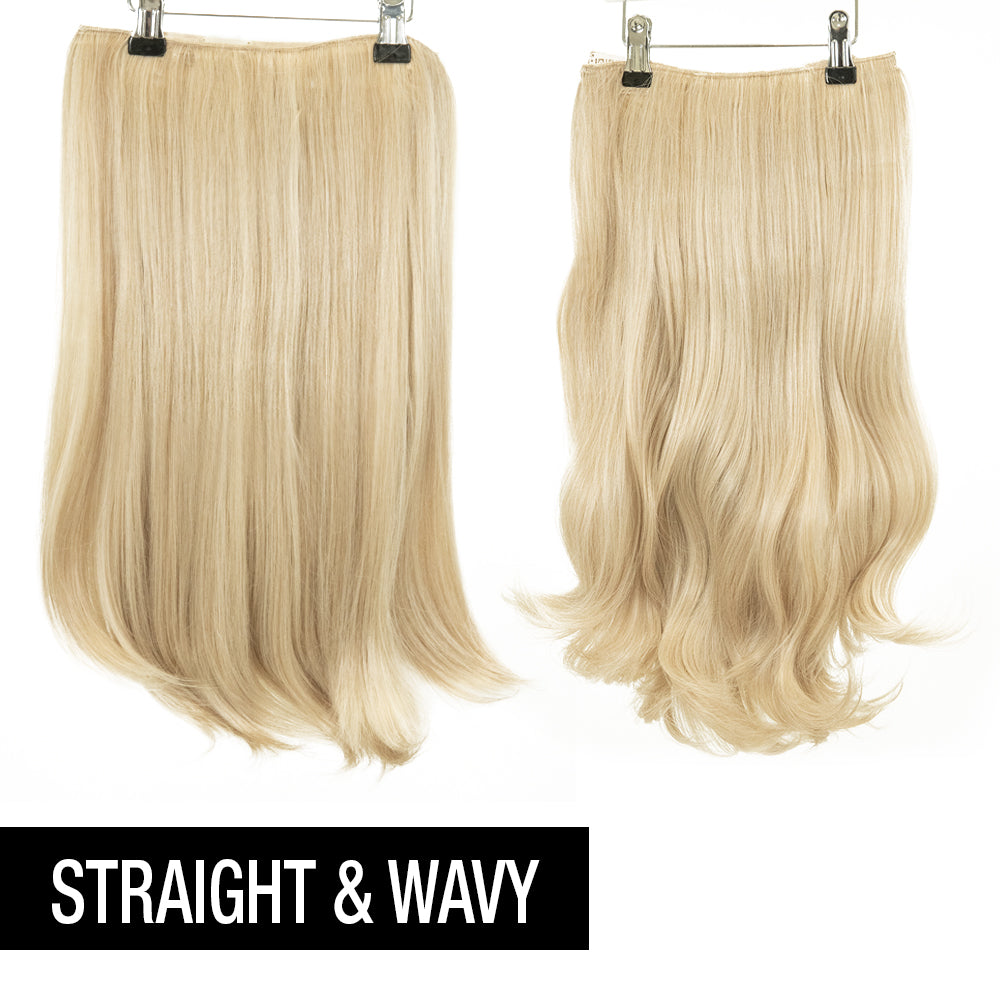"12 Piece Clip In HD Fibre Hair Extensions - 16"" / 22"" - Malibu Blonde (1572143005776)"