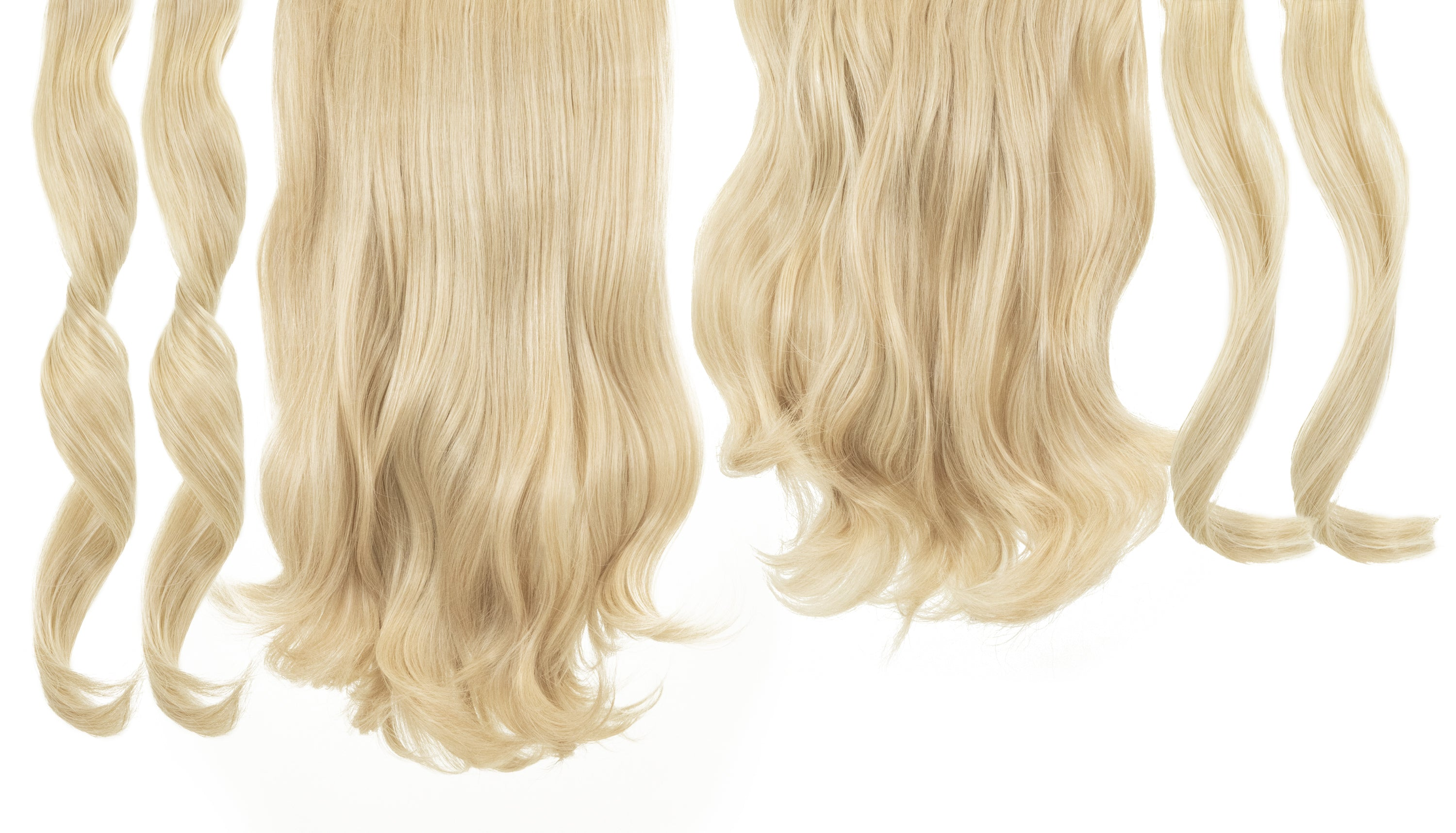 6 in 1 Clip In Hair Extensions - Malibu Blonde
