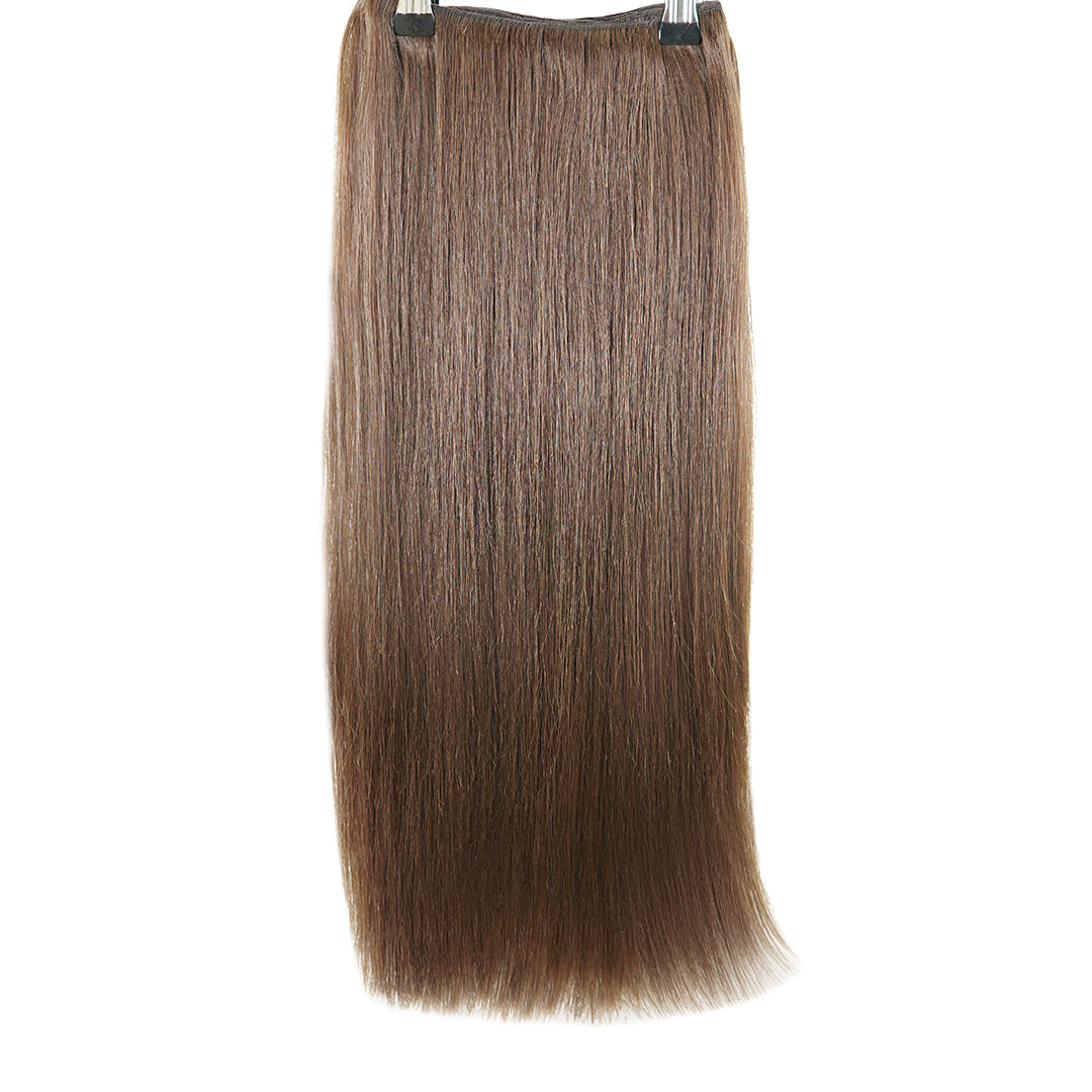 "Clip In 20"" Weft Human Hair Extensions - Medium Brown (448284936)"