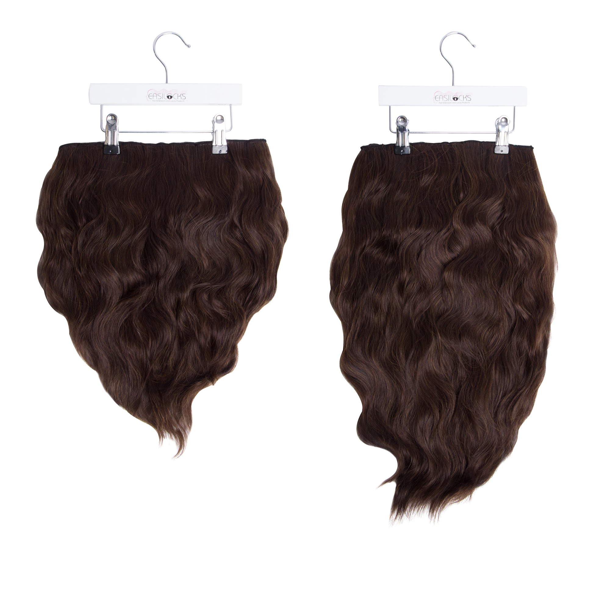 "Miracle Makeover HD Fibre Clip In Hair Extensions - 14"" & 22"" - Medium Brown (1319143768144)"