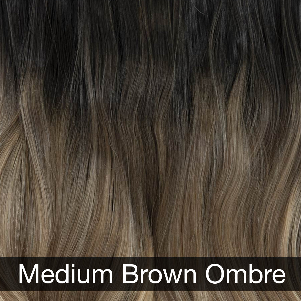 Medium Brown Ombre Hair Extensions	 (4490345971792)