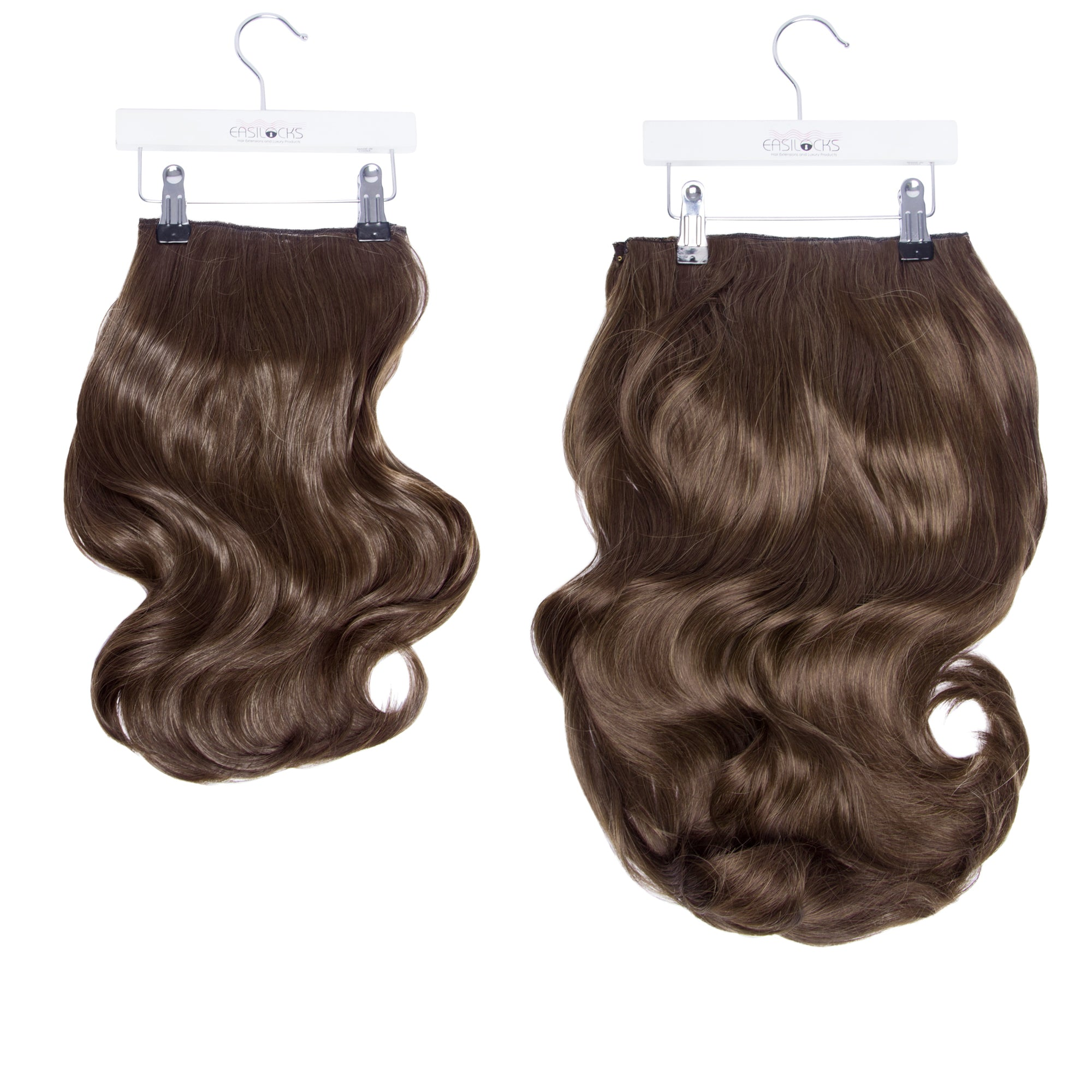 "Megan's Bouncy Blow HD Fibre Hair Extensions - 14"" & 22"" - Brown Cocoa (39436615689)"