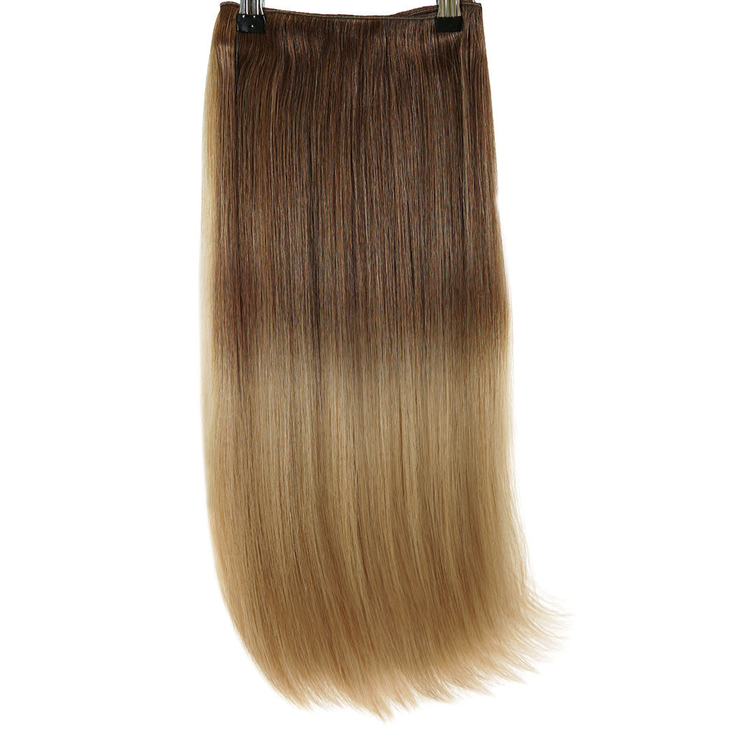 "Clip In 20"" Weft Human Hair Extensions - Sandy Brown (3693742686288)"