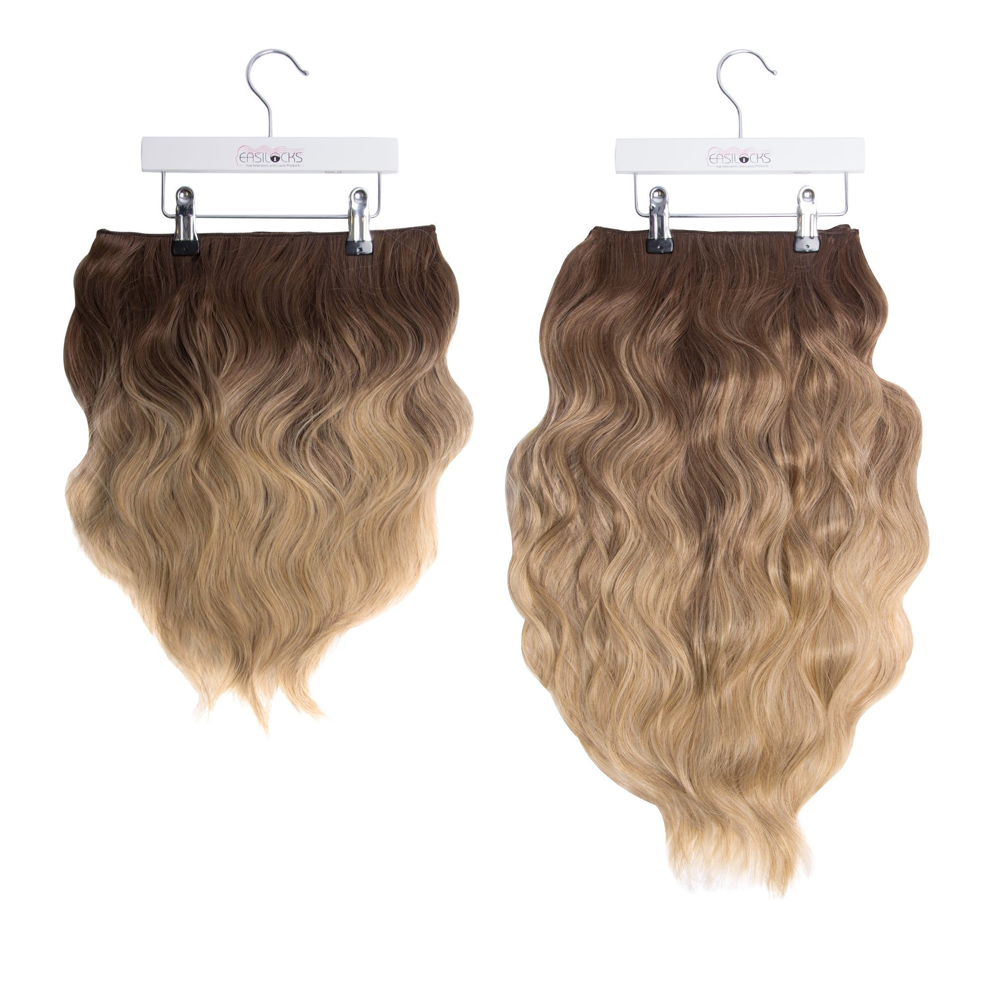 "Miracle Makeover HD Fibre Clip In Hair Extensions - 14"" & 22"" - Vanilla Balayage (3664509665360)"