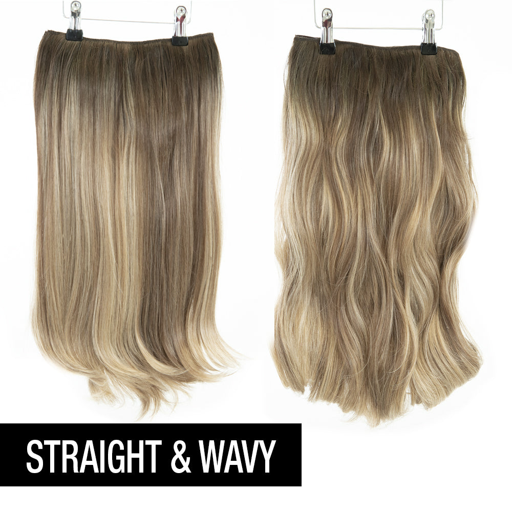 "12 Piece Clip In HD Fibre Hair Extensions - 16"" / 22"" - Vanilla Balayage (3664516186192)"