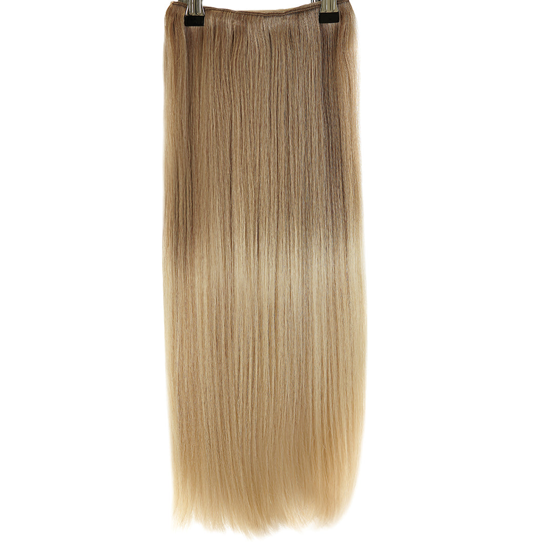 "Clip In 20"" Weft Human Hair Extensions - Vanilla Smoothie (448285356)"