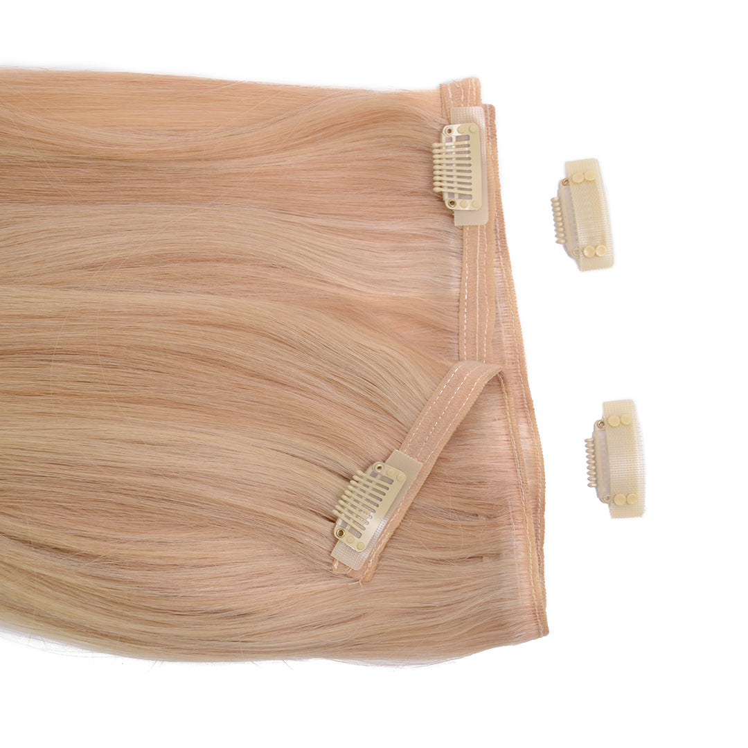 Multi Weft Clip In Human Hair Extensions - Vanilla Smoothie (448285356)
