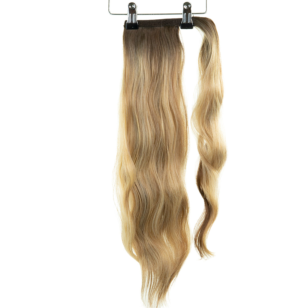 "Jordyn X Easilocks 22"" Clip-In Ponytail - Biscuit Balayage (PRE ORDER) (4168178860112)"