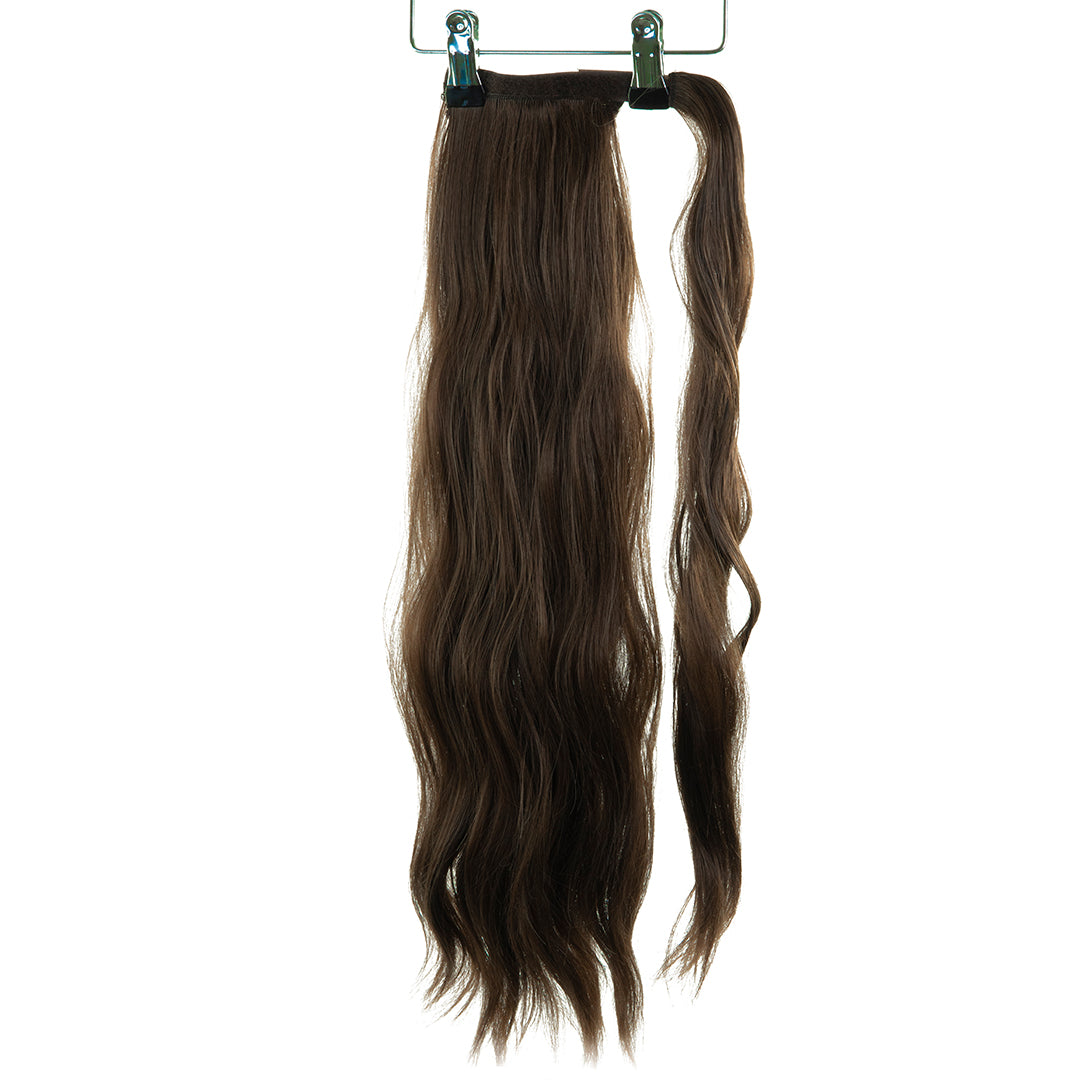 "Jordyn X Easilocks 22"" Clip-In Ponytail - Brown Cocoa (4168036548688)"