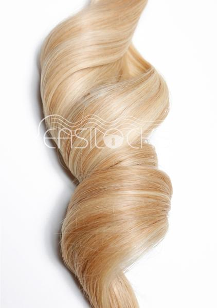 Multi Weft Clip In Human Hair Extensions - Cream Caramel (448283564)