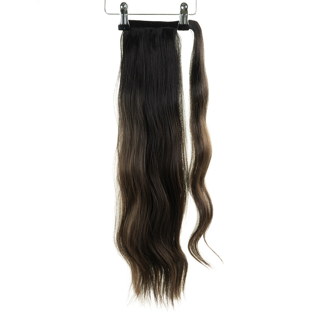 "Jordyn X Easilocks 22"" Clip-In Ponytail - Dark Brown Ombre (PRE ORDER) (4168045723728)"