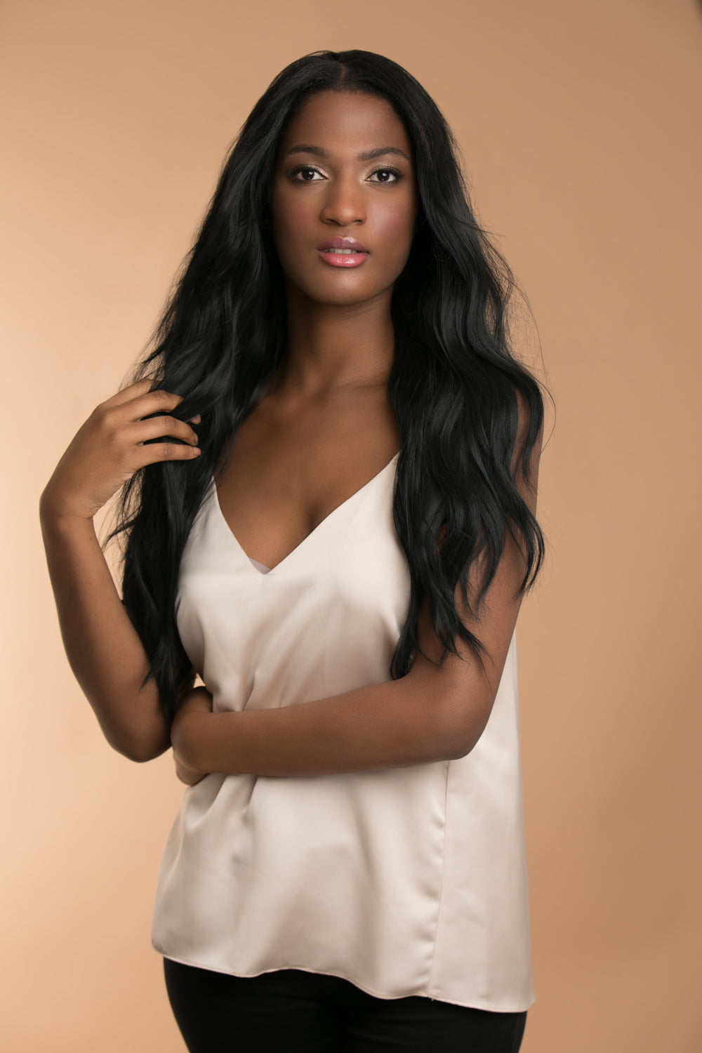 Jordyn X Easilocks HD Fibre Lace U Part - Ebony