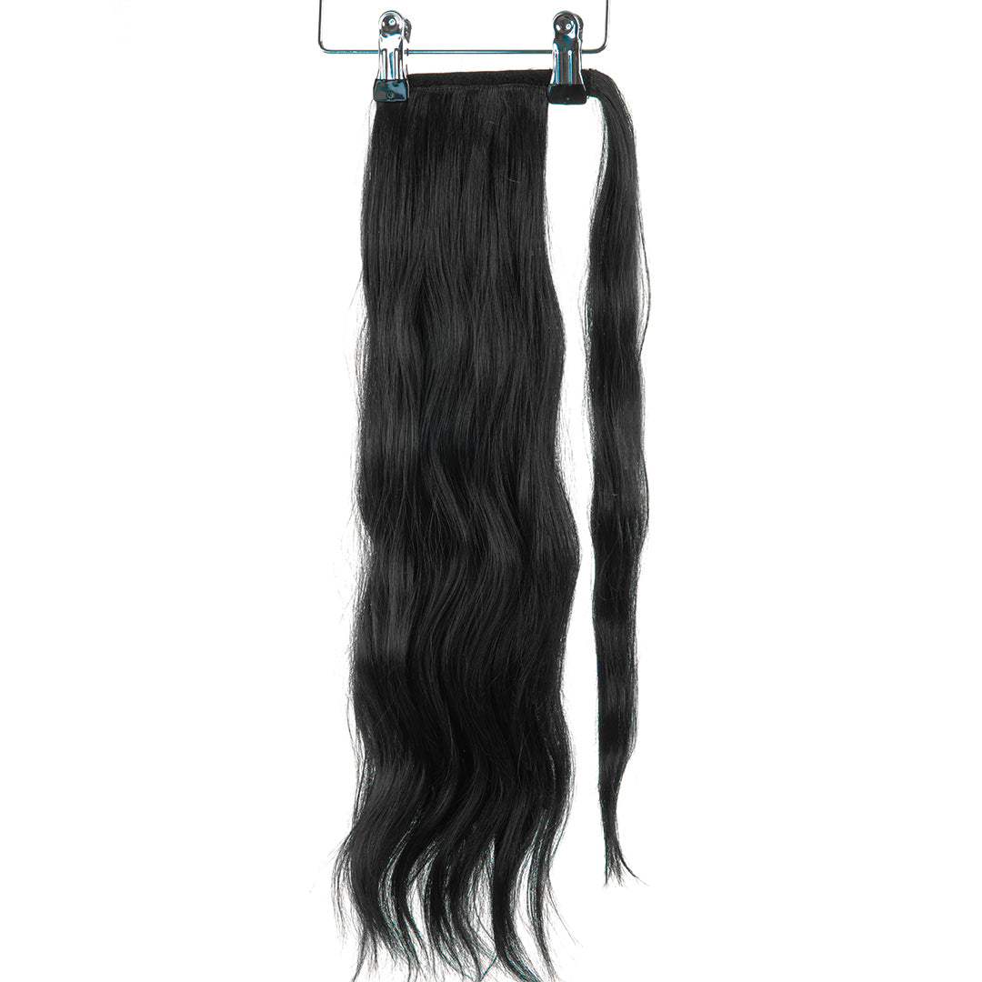 "Jordyn X Easilocks 22"" Clip-In Ponytail - Ebony (PRE ORDER) (4168055193680)"