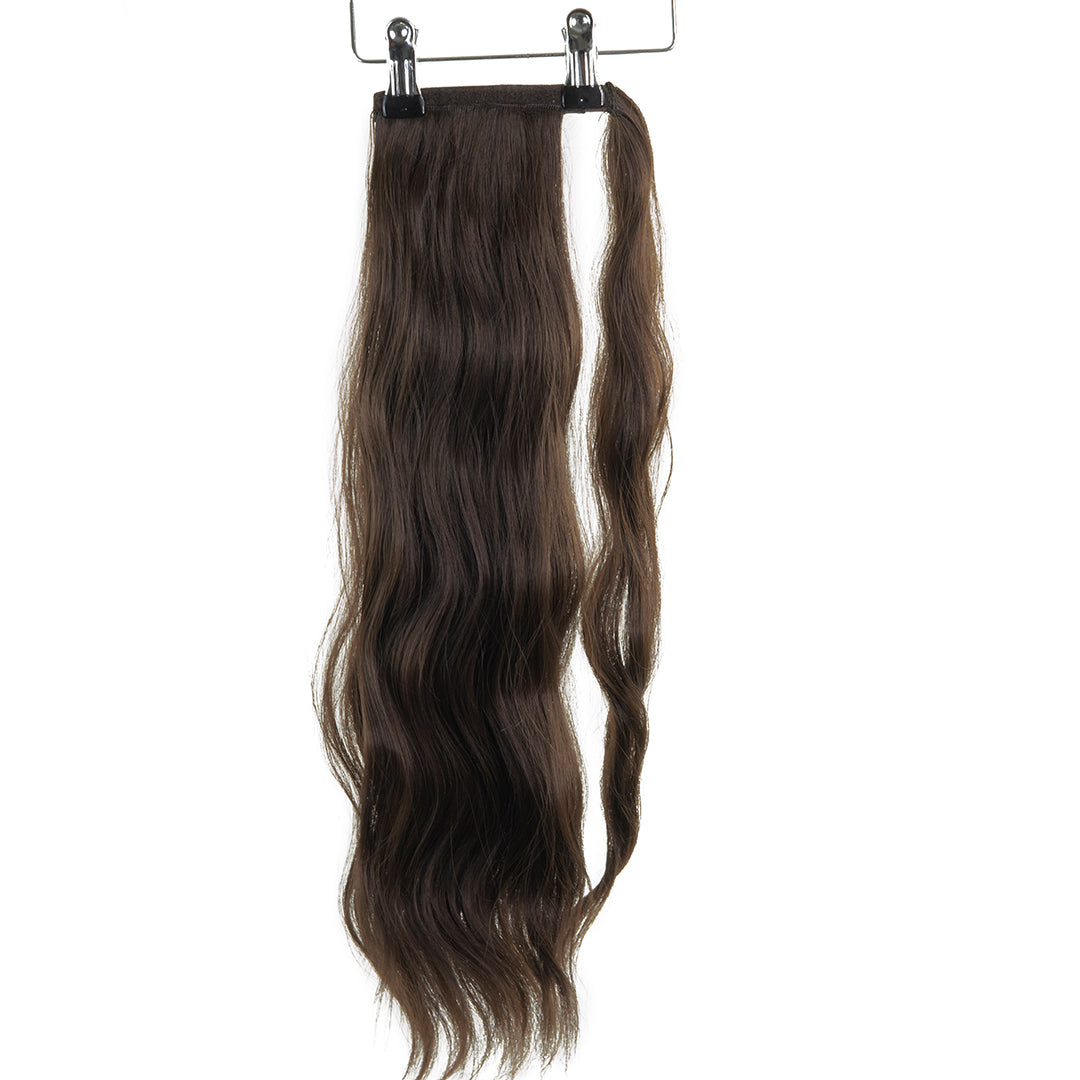 "Jordyn X Easilocks 22"" Clip-In Ponytail - Mocha Brown (4168035926096)"