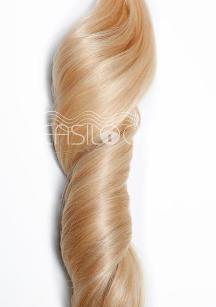 Multi Weft Clip In Human Hair Extensions - Pure Blonde (448285584)
