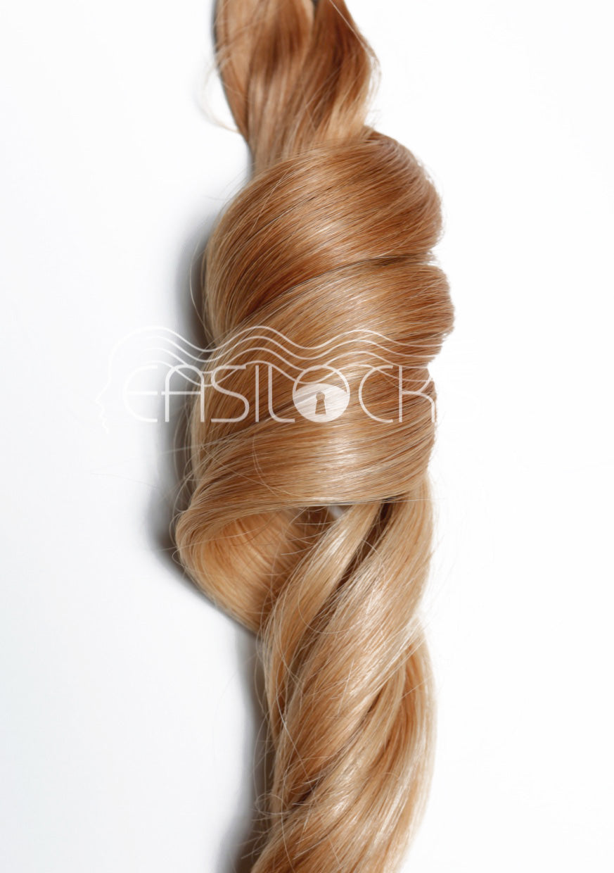 Multi Weft Clip In Human Hair Extensions - Sandy Blonde (3693737050192)