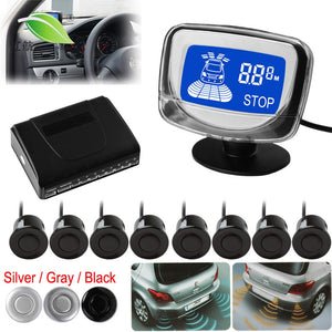 Car Auto Parktronic Backlight Display LED Parking Sensor 4/6/8 Reverse Sensors Backup Car Parking Radar Monitor Detector System
