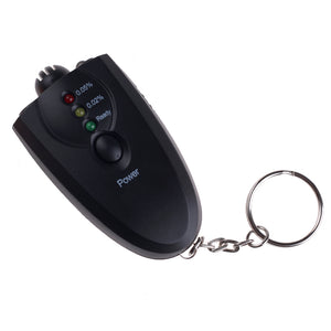 Mini Professional Key Chain Alcohol Meter Analyzer Portable Keychain Red Light LED Flashlight Alcohol Breath Tester Breathalyzer