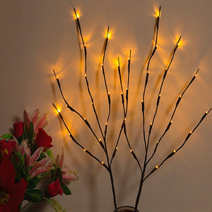 20 LEDS 6 Colors Lighting Table Lamp Simulation Tree Lights Night Bedroom Decor Light Festival Led Lamps Creative Fairy Light