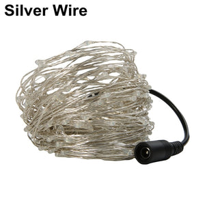 10M/20M/30M/50M/100M Led Silver/Copper Wire 100/200/300/500/1000 LED String Light Starry Lights for christmas wedding holiday