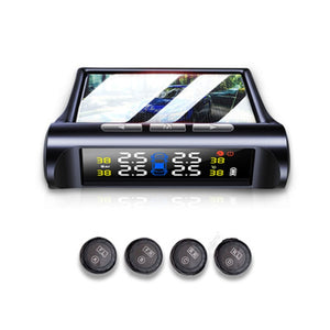 Two Colors Car TPMS Tire Pressure Sensor Monitoring System Solar Power Digital LCD Display Security Alarm Systems Tyre Pressure