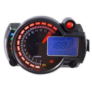 Hot Adjustable Motorcycle Digital Speedometer LCD Odometer Panel Universal For All Motorcycle