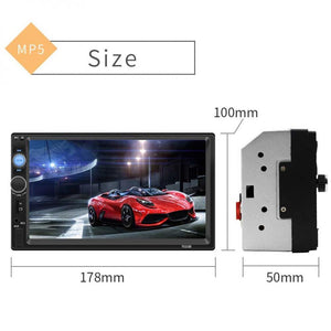 7 Inch 2 DIN In Dash Bluetooth HD Touch Screen Car Video Radio Stereo Player Support Mirror Link for iPhone and Android/Aux In