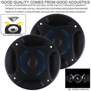 2pcs! Car Speaker 4 Inch 100W 3 Way Auto Car Coaxial Hifi Speakers Horn Audio Music Stereo Full Range Frequency Loudspeaker