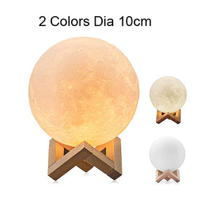 Xsky Dropship 3D Print Moon Lamp 2 Colors Change Touch Switch Table Lamps Bedroom Bookcase Night Light Home Decor Creative Gifts